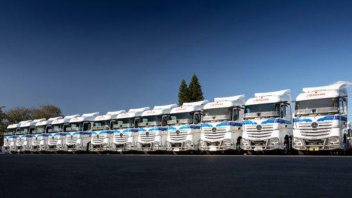 Image of the Bakers SA fleet