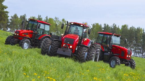 An image of Belarus tractors from Minsk Tractor Works