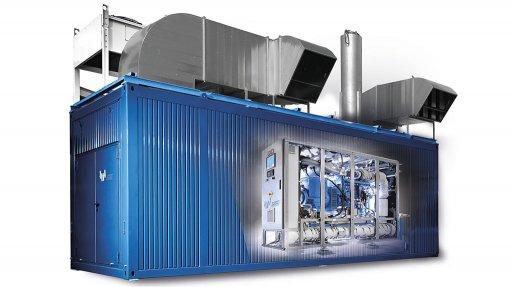 An image of an Energas gas generator set