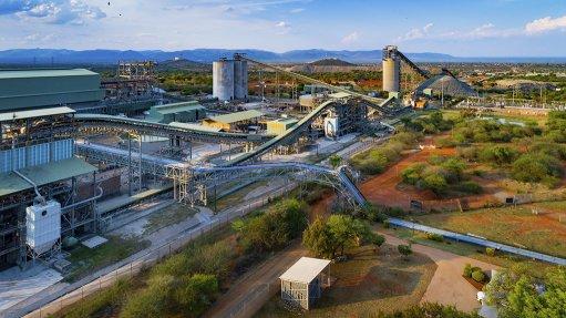 A photo of the Bafokeng Rasimone Platinum Mine Concentrator plant