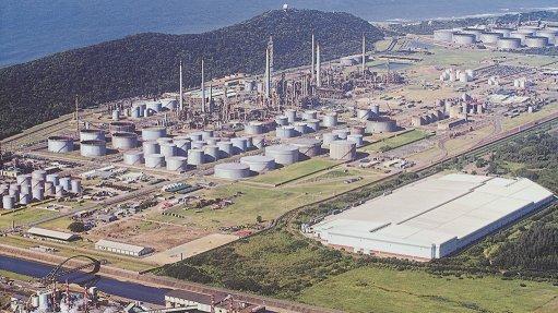 A photo of the Sapref refinery
