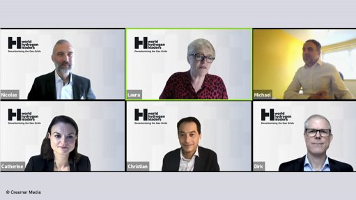 Creamer Media screenshot of World Hydrogen Leaders online event October 2021