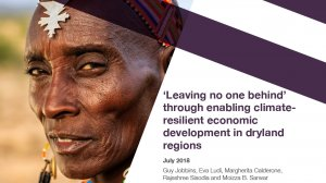 'Leaving no one behind' through enabling climate-resilient economic development in dryland regions