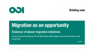 Migration as an opportunity: evidence of labour migration initiatives