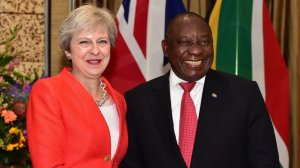 Ramaphosa, May all smiles as they commit to closer partnership between SA, UK