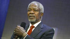 International dignitaries pay their respects as Kofi Annan laid to rest