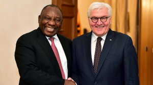 German President in Cape Town to meet Ramaphosa