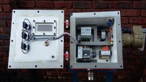 The Electrical Control Panel showing the control relays if  connected correctly HAZLETON PUMPS guarantees  that the pump will not burn out