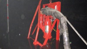 The skid mounted HIPPO Flameproof Submersible Slurry Pump System® in underground operation in a typical coal mine