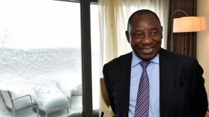SA: Cyril Ramaphosa, Address by South African President, during the WEF Global Press Conference, Davos-Klosters, Davos (23/01/2019)