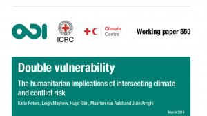 Double vulnerability: the humanitarian implications of intersecting climate and conflict risk