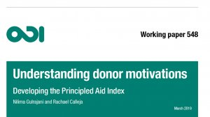 The Principled Aid Index: understanding donor motivations