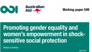 Promoting gender equality and women's empowerment in shock-sensitive social protection