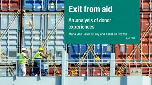 Exit from aid: an analysis of donor experiences