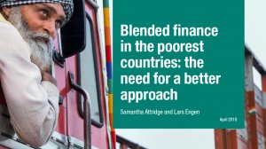 Blended finance in the poorest countries: the need for a better approach