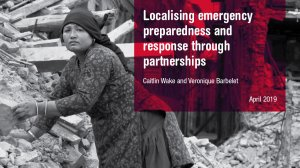 Localising emergency preparedness and response through partnerships