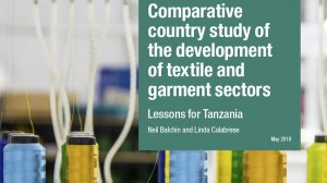 Comparative country study of the development of textile and garment sectors: lessons for Tanzania