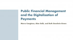 Public Financial Management and the Digitalization of Payments
