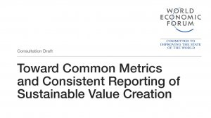 Toward Common Metrics and Consistent Reporting of Sustainable Value Creation