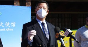 Speech by Charges d'Affaires Li Nan of the Chinese Embassy at the Food Parcels Donation Ceremony in Soweto, June 5 2020