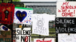 Messages of unity and defiance at White House protest site