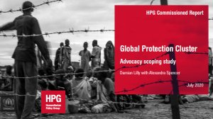 Global Protection Cluster: advocacy scoping study