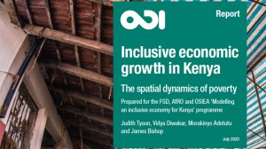 Inclusive economic growth in Kenya: the spatial dynamics of poverty