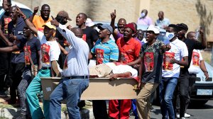 Cape Town undertakers place coffins on N2 as funeral industry shutdown continues