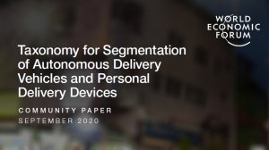 Taxonomy for Segmentation of Autonomous Delivery Vehicles and Personal Delivery Devices