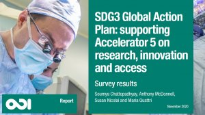 SDG3 Global Action Plan: supporting Accelerator 5 on research, innovation and access