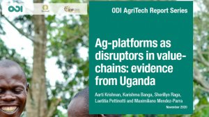 Ag‑platforms as disruptors in value-chains: evidence from Uganda