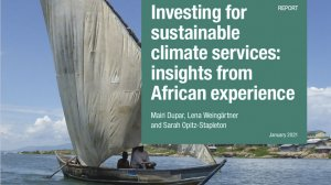 Investing for sustainable climate services: insights from African experience