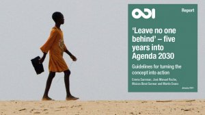 'Leave no one behind' – five years into Agenda 2030: guidelines for turning the concept into action