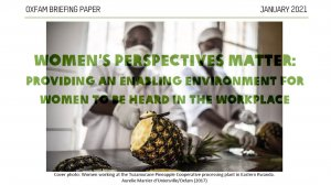 Women's Perspectives Matter: Providing an enabling environment for women to be heard in the workplace