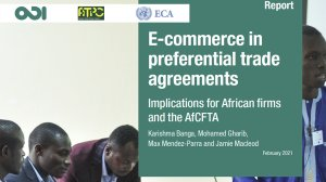 E-commerce in preferential trade agreements: implications for African firms and the AfCFTA