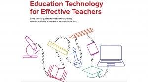 Education Technology for Effective Teachers