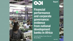 Financial performance and corporate governance: evidence from national development banks in Africa