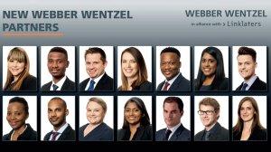 Webber Wentzel appoints 14 new partners in 2021