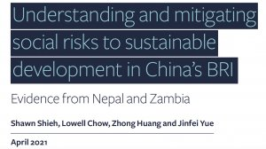 Understanding and mitigating social risks to sustainabledevelopment in China's BRI: evidence from Nepal and Zambia