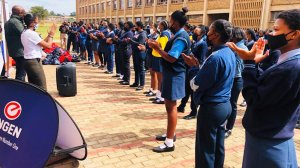 Engen and Caring4Girls visit Tshedimosetso and Kanana Secondary schools