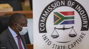 South African President Cyril Ramaphosa at the State Capture Commission