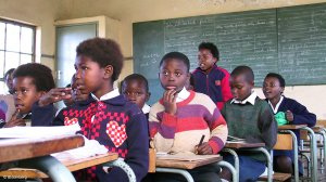 Picture of school learners in class