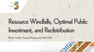 Working Paper 348 - Resource Windfalls, Optimal Public Investment and Redistribution