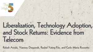 Working Paper 352 - Liberalization, Technology Adoption, and Stock Returns: Evidence from Telecom