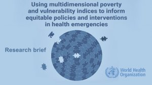 Using multidimensional poverty and vulnerability indices to inform equitable policies and interventions in health emergencies