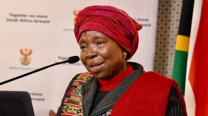 South African Minister of Cooperative Governance and Traditional Affairs Dr Nkosazana Dlamini-Zuma