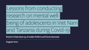 Lessons from conducting research on mental well-being of adolescents in Viet Nam and Tanzania during Covid-19