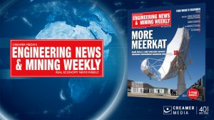 Cover image of Engineering News and Mining Weekly magazine