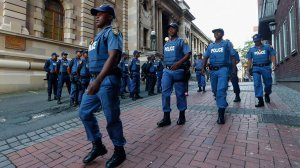Image of the members of the SAPS