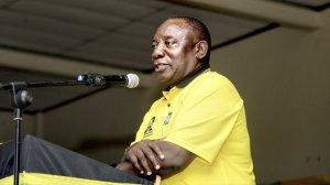 Image of ANC President Cyril Ramaphosa